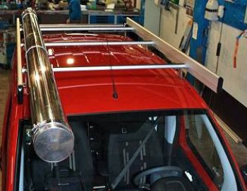 12Roof rack with steel pipe tube Fiorino